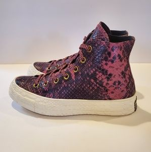 Converse Chuck 70 Hi Womens Sz 8 Purple Wine Gator